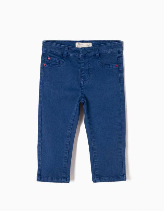 Pantalón Bebé Niño Sarga Azul