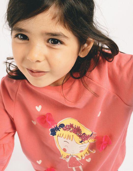 Sweatshirt para Menina 'Hapiness', Rosa