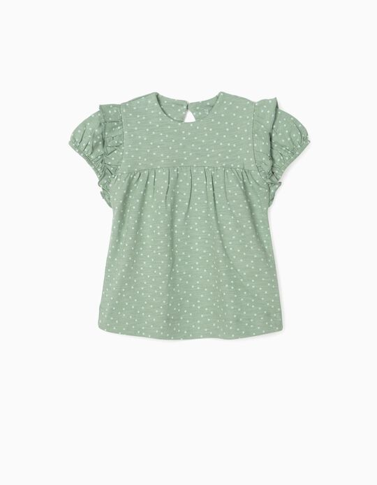 T-shirt for Baby Girls, 'Dots', Green