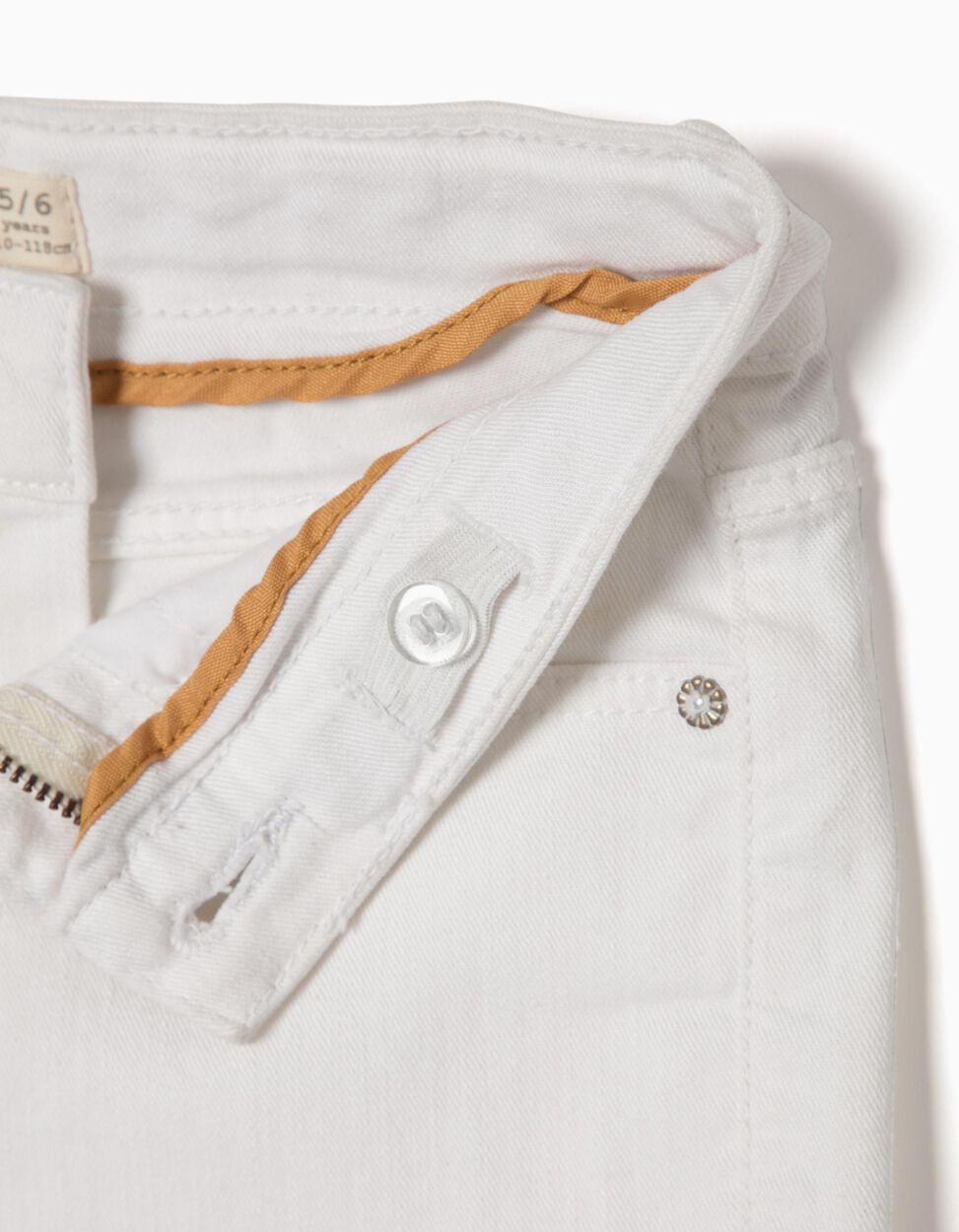 Pantalón de Sarga Blanco