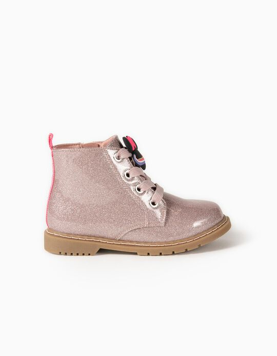 Shiny Biker Boots for Girls 'Minnie Space', Pink