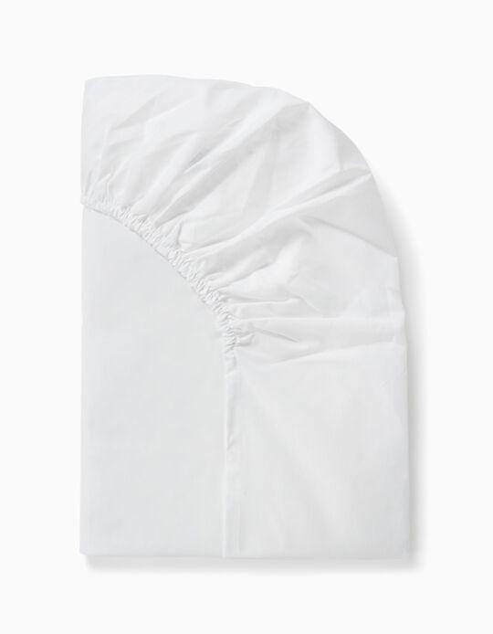 Lençol Ajustável para cama 120x60cm Interbaby Branco
