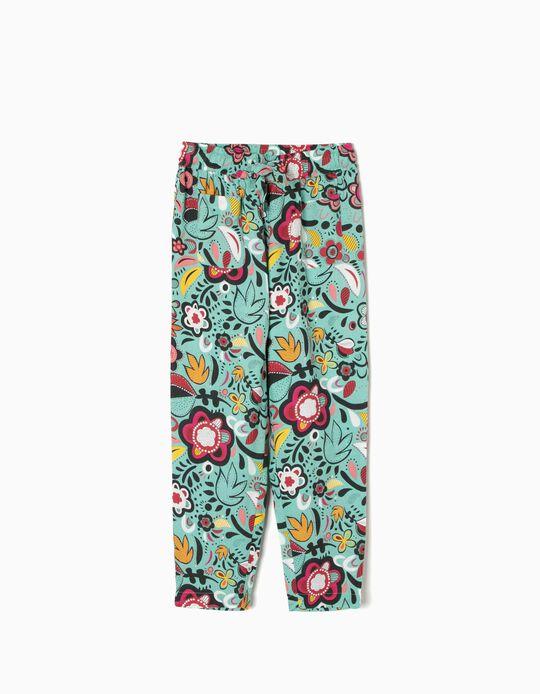 Pantalón Vaporoso de Flores