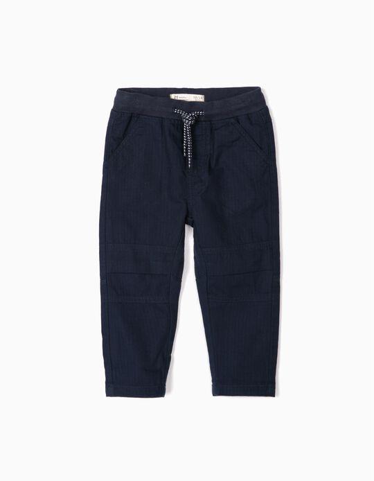 Calças Jogger para Bebé Menino, Azul Escuro
