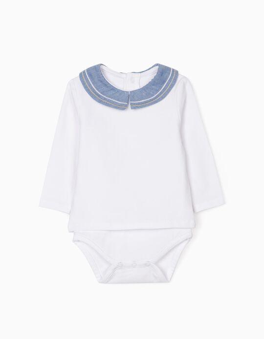 Body Polo para Recién Nacido, Blanco