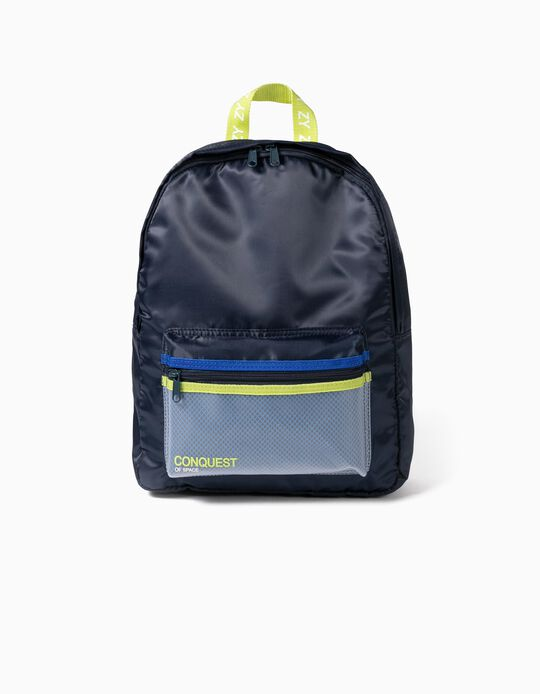 Backpack for Boys, 'Conquest of Space', Dark Blue