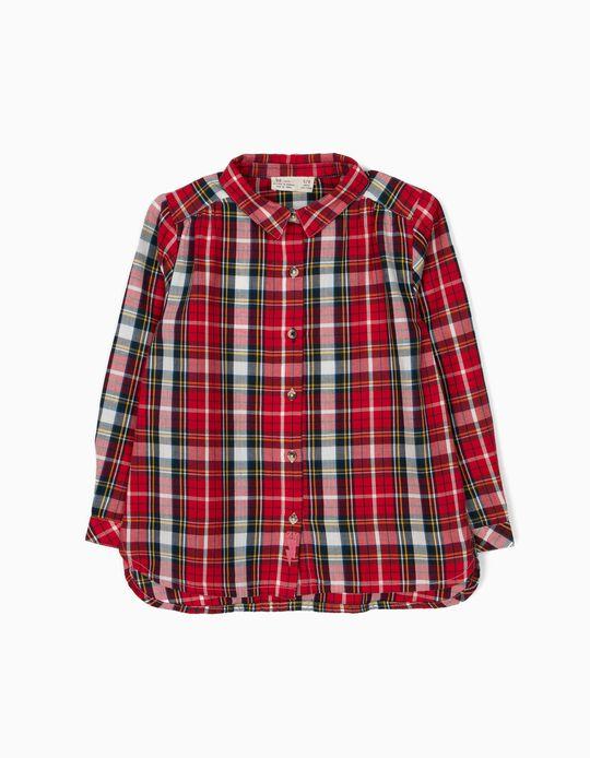Camisa Ajedrez Tartán Rojo