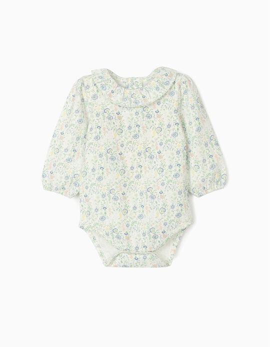 Bodysuit for Newborn Baby Girls 'Flowers', Multicoloured