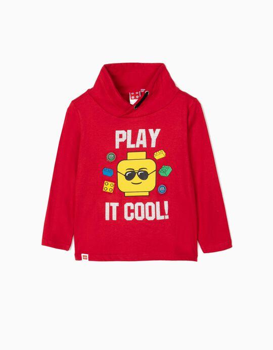 T-shirt Manga Comprida para Menino 'Lego', Vermelho
