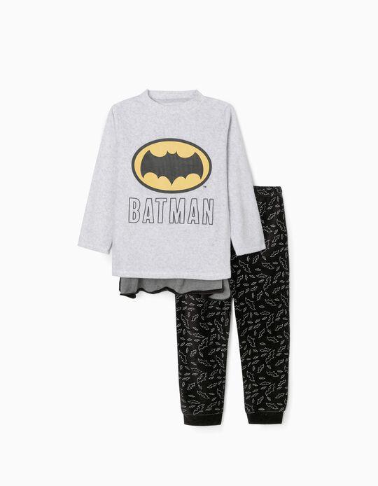 Pijama de Terciopelo con Capa para Niño 'Batman', Gris/Negro
