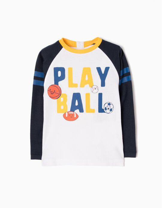 T-shirt Manga Comprida Estampada Playball