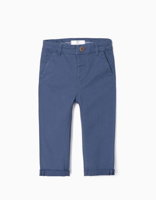 Pantalón Chino para Bebé Niño, Azul