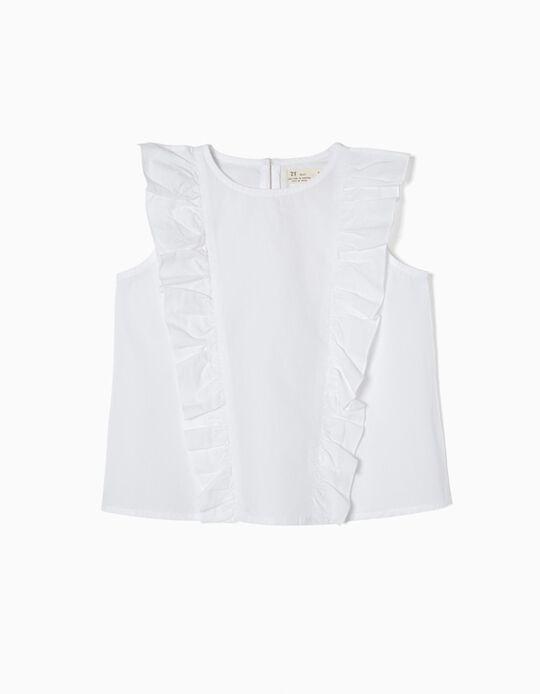 Blusa Branca com Folhos