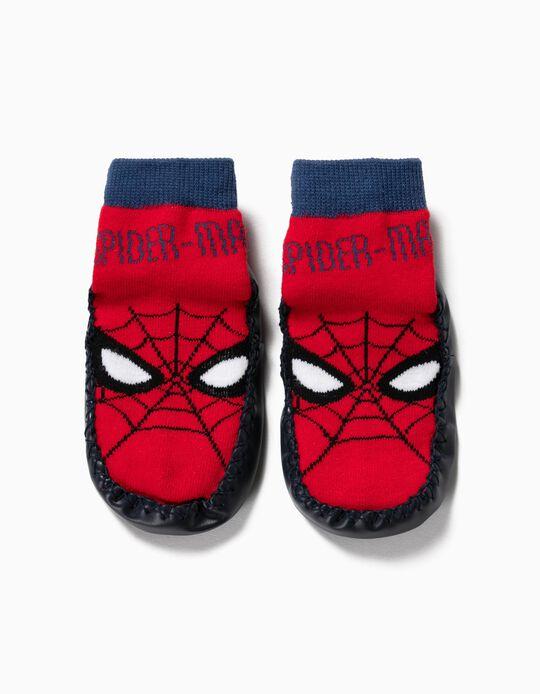 Calcetines Pantuflas Antideslizantes para Niño 'Spider-Man', Rojo