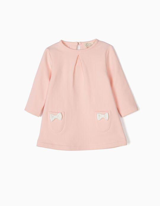 Vestido para Recién Nacida con Lacitos, Rosa