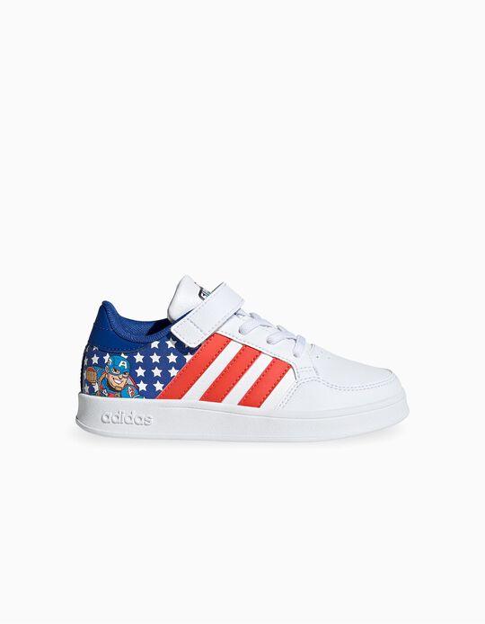Zapatillas Infantiles Marvel 'Adidas Breaknet', Blanco/Rojo/Azul