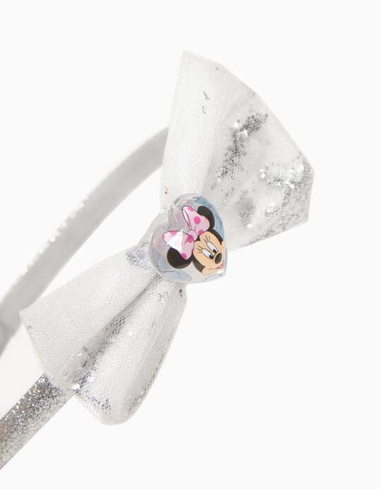 Diadema con Lacito para Niña 'Minnie', Plateada