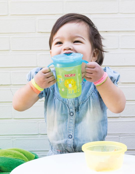 360 Sippy Cup with Handles, 240ml 6M+ by Nuby