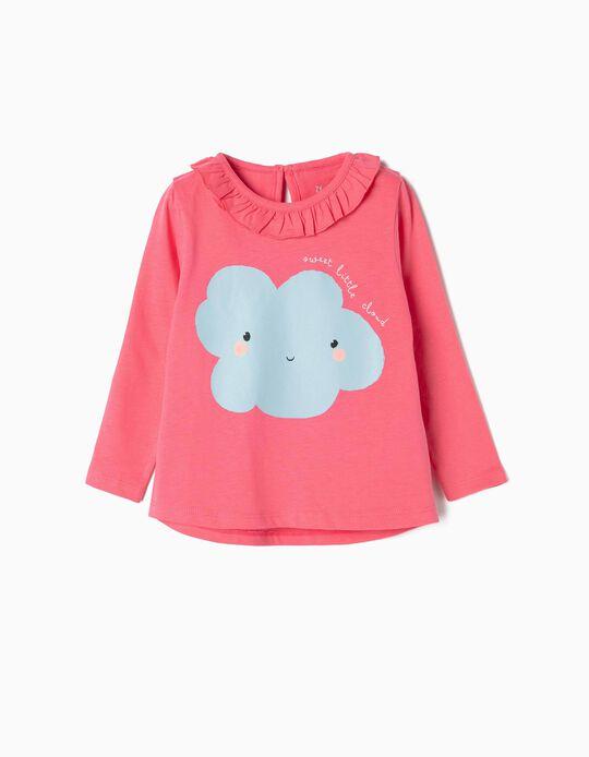 T-shirt Manga Comprida para Bebé Menina 'Sweet Little Cloud', Rosa