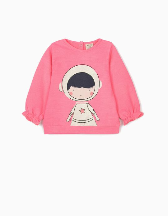 Sweatshirt for Baby Girls 'Astronaut', Pink