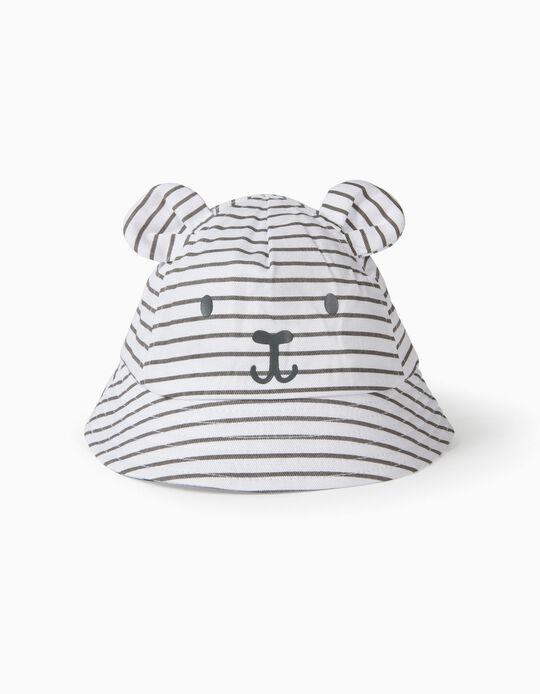 Sombrero para Bebé 'Cute Bear', Blanco/Gris