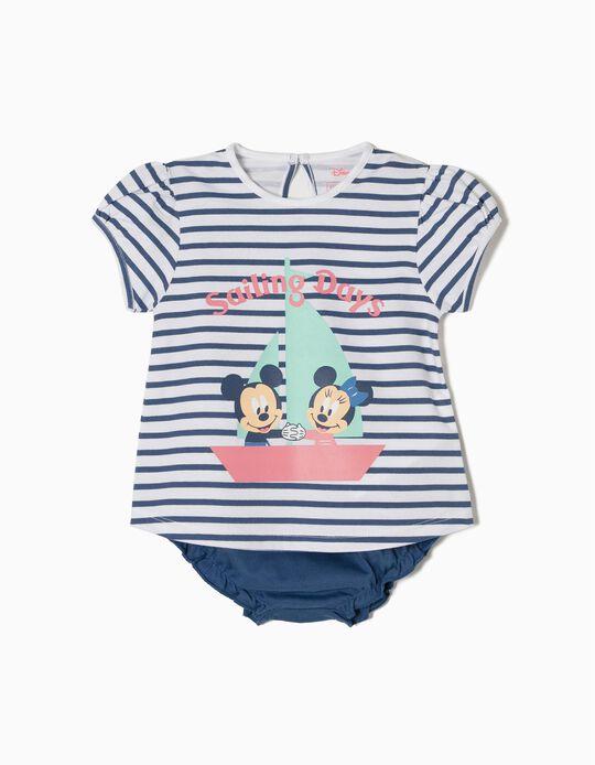 Conjunto de Camiseta y Cubrepañal Disney