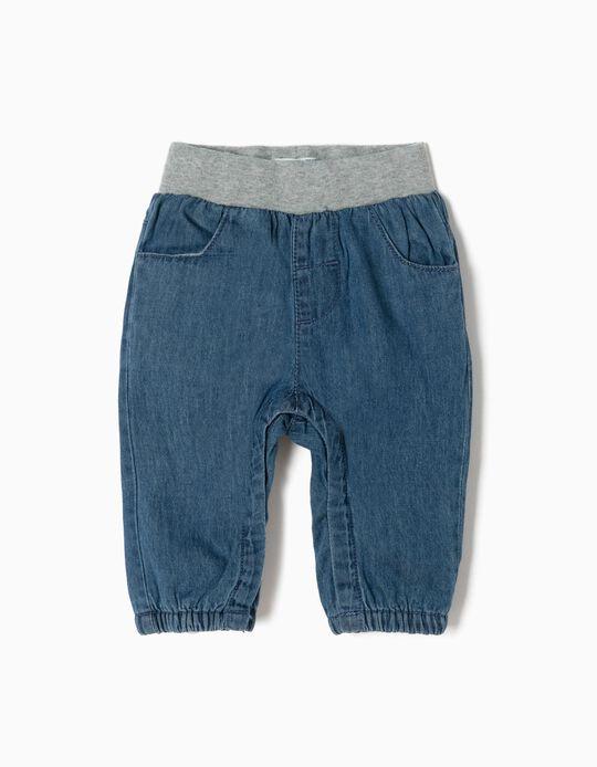 Denim Trousers for Newborn 'My 1st Denim', Blue