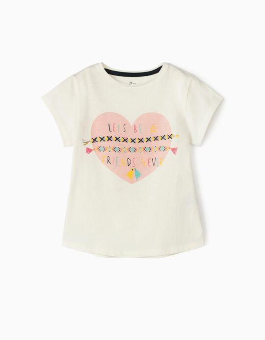 T-Shirt for Girls 'Friends', White