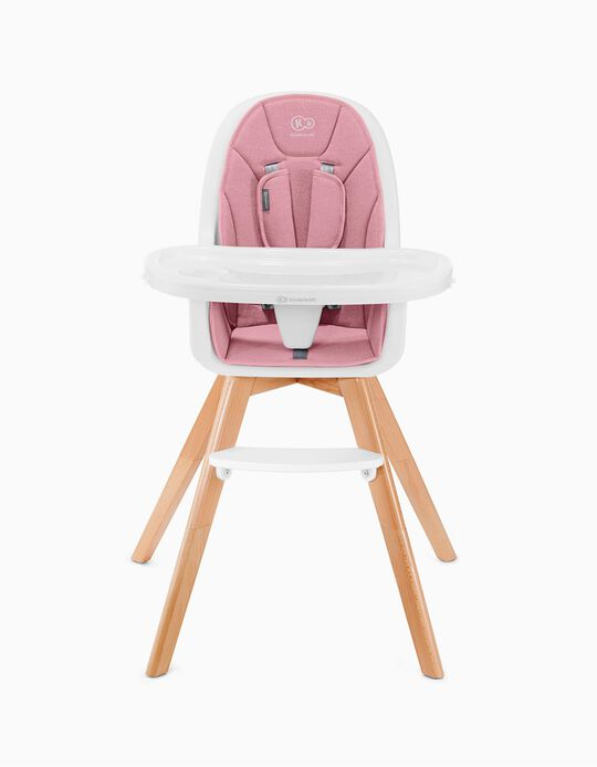 Chaise haute Tixi Kinderkraft rose