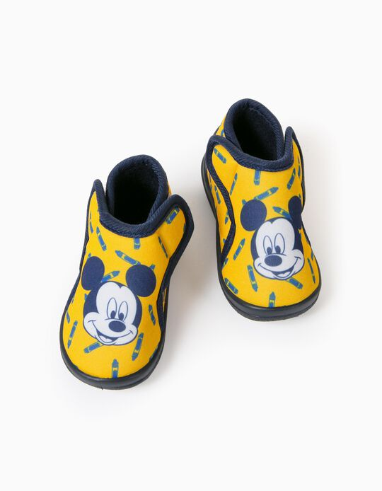 Slippers for Baby Boys, 'Mickey', Yellow