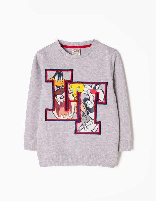 Sweatshirt Looney Tunes Cinzenta