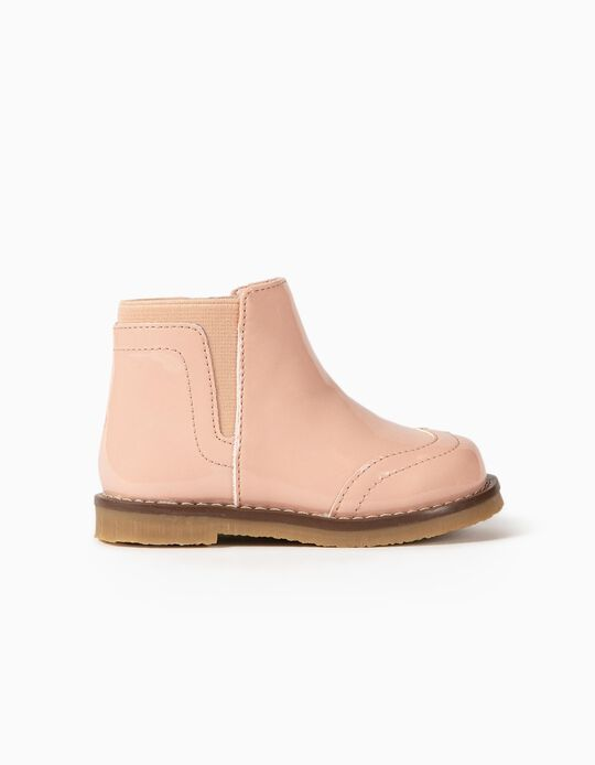 Bottines vernies bébé fille, rose