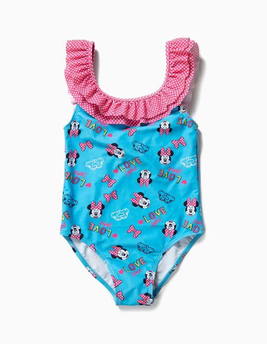 Bañador para Niña 'Minnie' Antirrayos UV 80, Azul