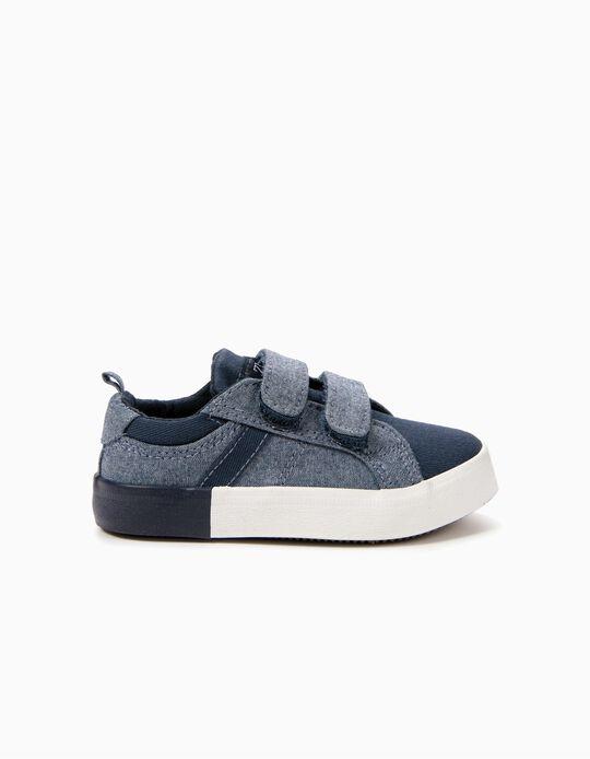 Zapatillas de dos Materias para Bebé Niño, Azul Oscuro