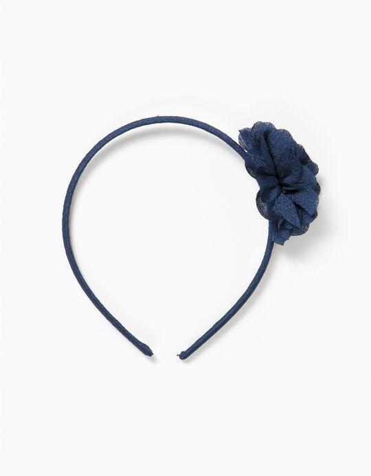 Diadema Flor Azul