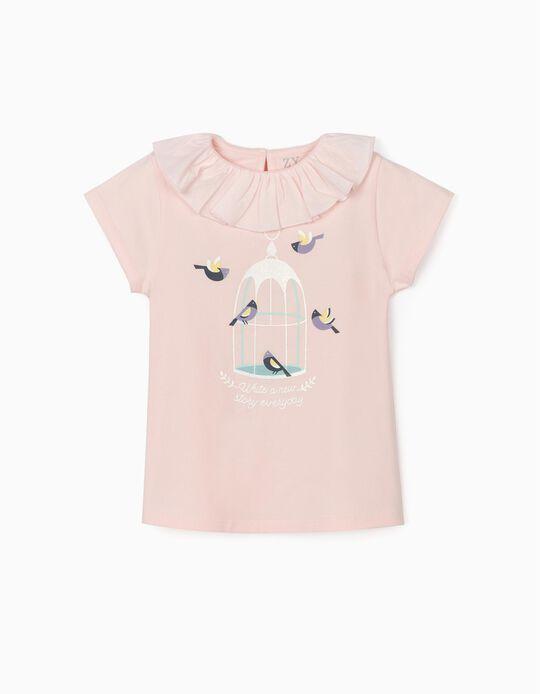 Camiseta para Niña 'New Story', Rosa