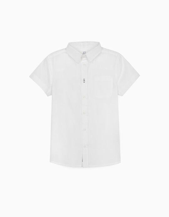 Camisa com Textura para Menino, Branco