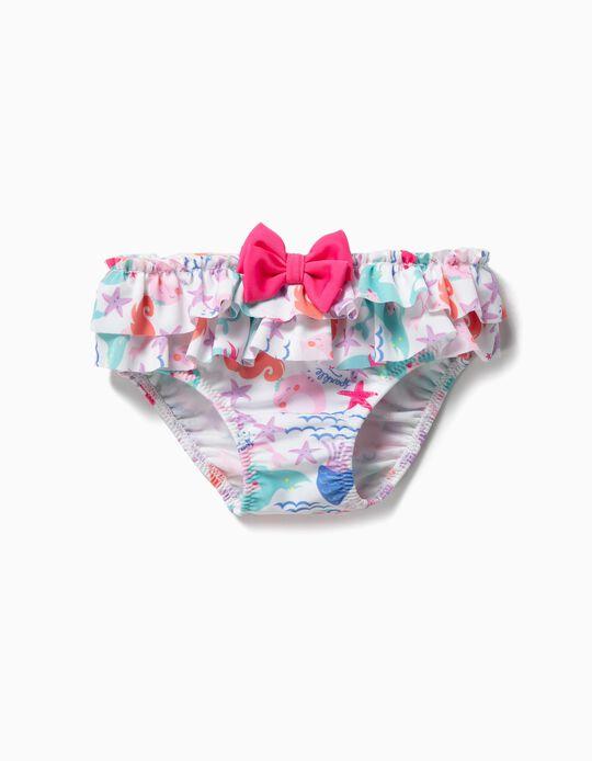 Cuecas de Banho para Bebé Menina 'Mermaids', Branco