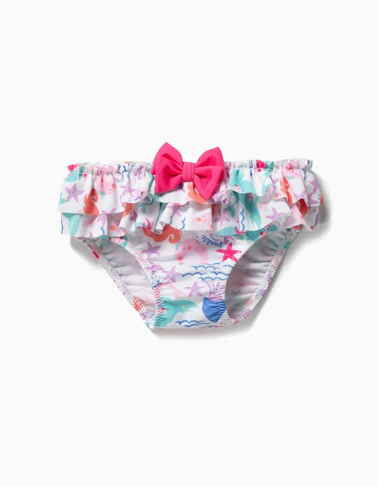 Bañador Culetín para Bebé Niña 'Mermaids', Blanco