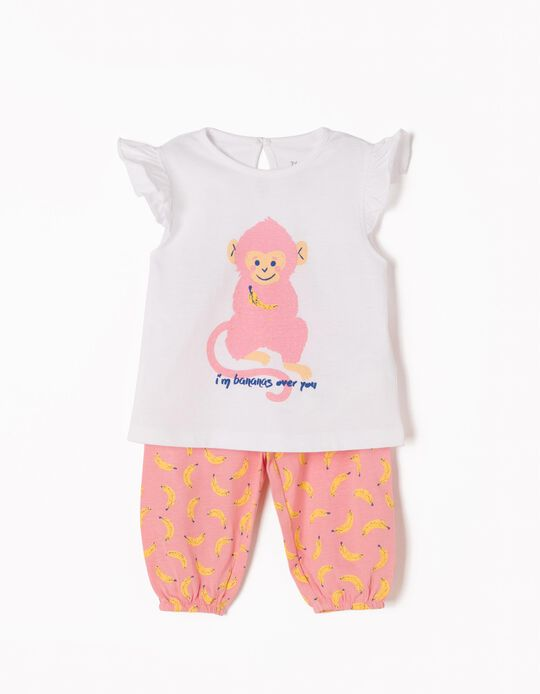 Pijama Manga Cava Monkey & Bananas