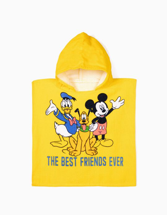 Poncho de Playa para Bebé Niño 'Mickey & Friends', Amarillo