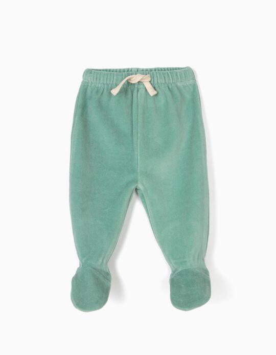 Pantalón con Pies Aterciopelados Verde