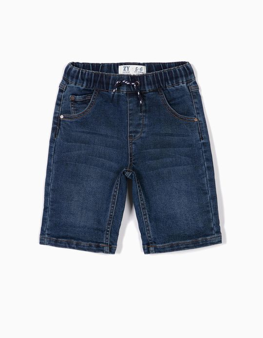 Denim Shorts for Boys, Dark Blue