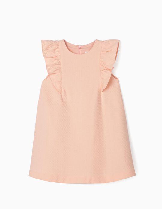 Vestido com Textura para Bebé Menina, Rosa