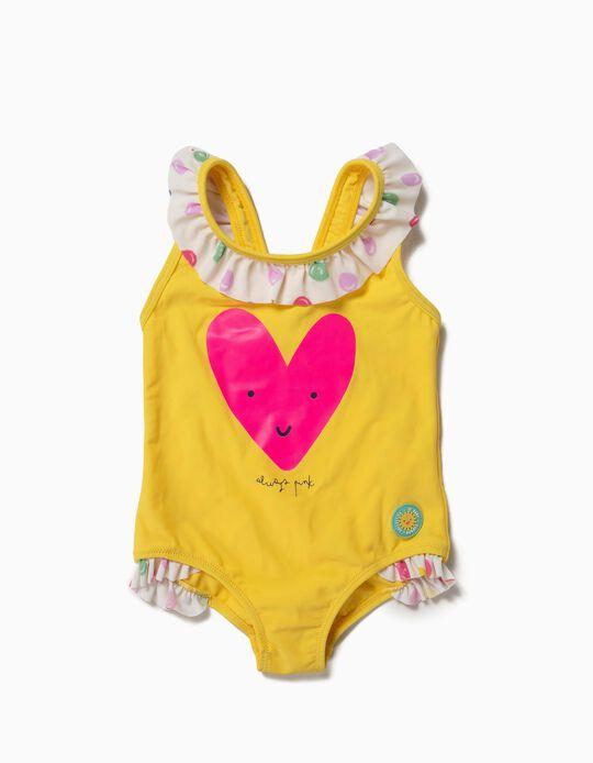 Bañador para Bebé Niña 'Always Pink' Antirrayos UV 80, Amarillo
