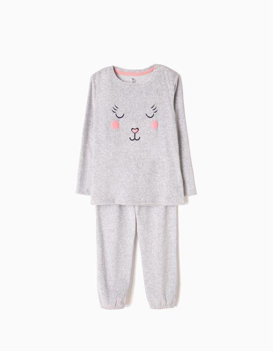 Pijama Veludo Bear Cinzento