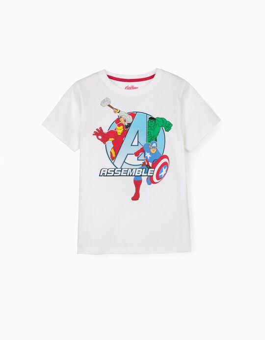 T-shirt para Menino 'Avengers Assemble', Branco