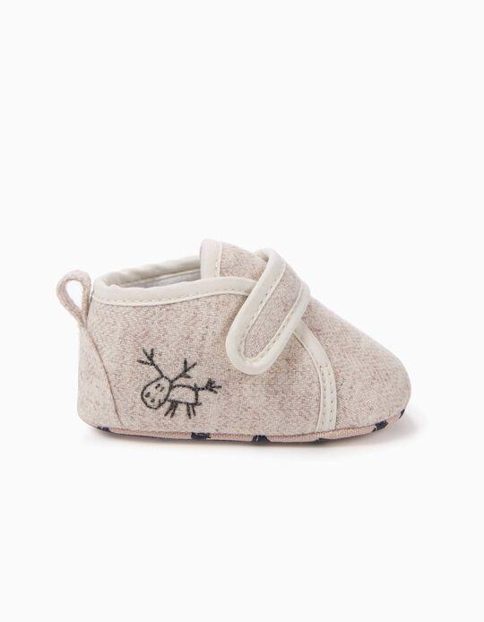Sapatos Pre-Walker de Lã Beges