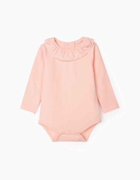 Bodysuit with Ruffle for Newborn Baby Girls, Pink
