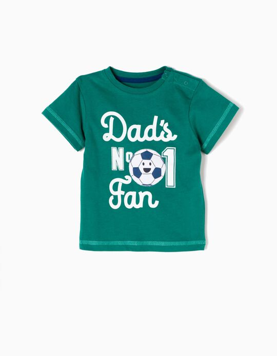 T-shirt Dad's nº 1 Fan Verde
